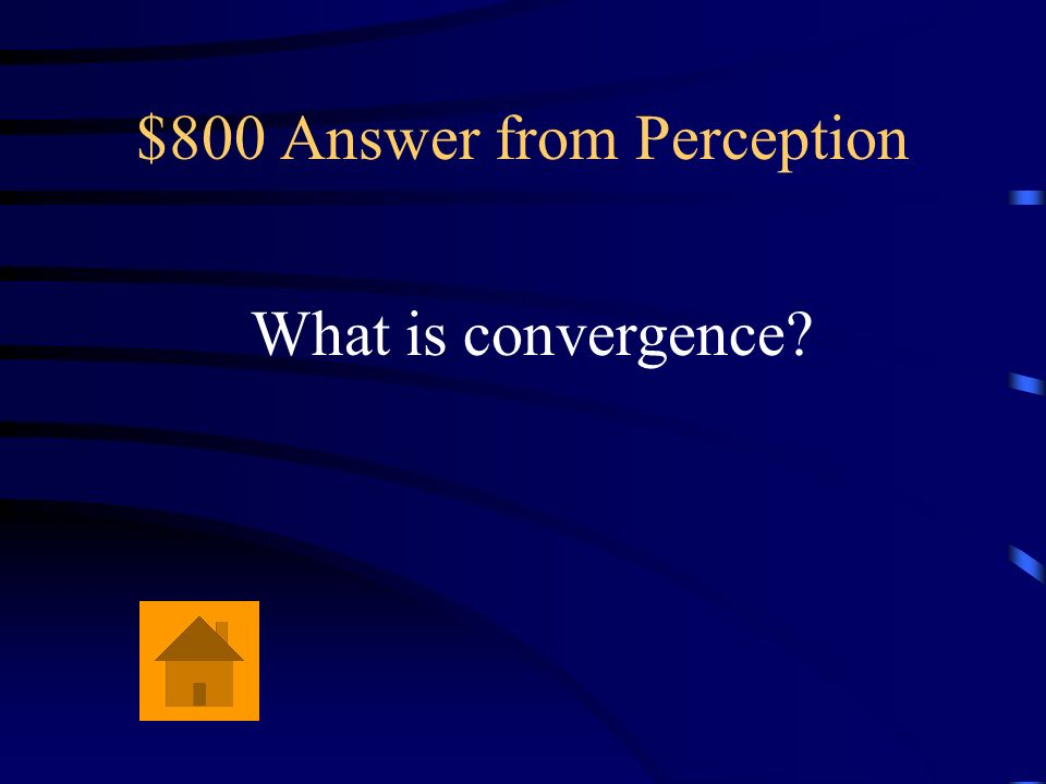 $800 Answer from Perception