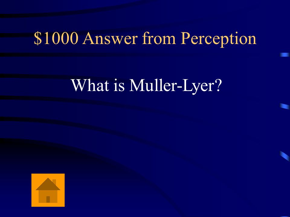 $1000 Answer from Perception