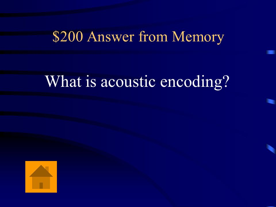 What is acoustic encoding