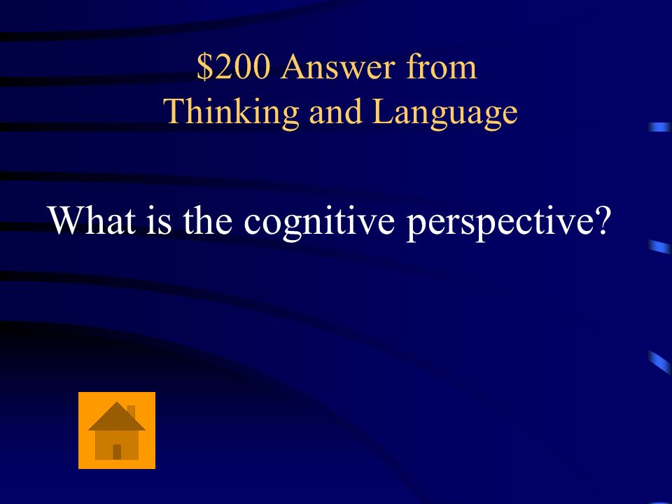 $200 Answer from Thinking and Language