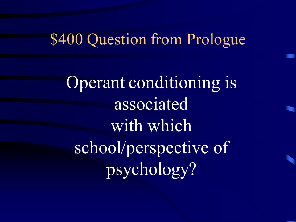 $400 Question from Prologue