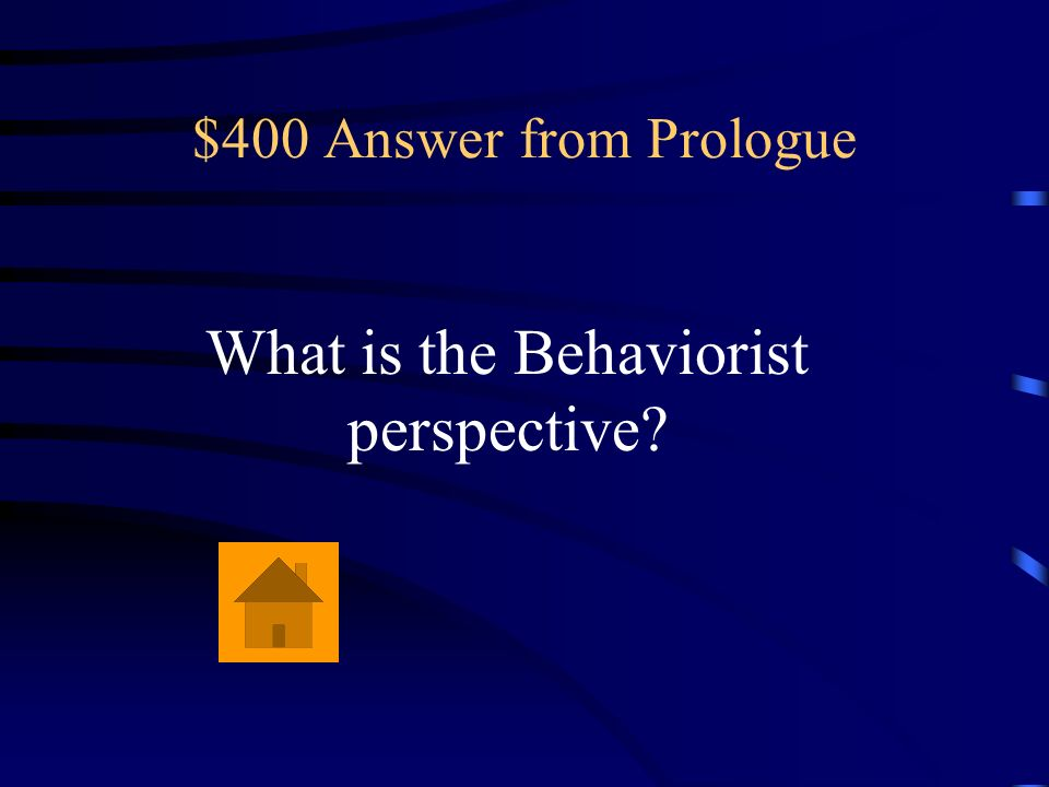 What is the Behaviorist perspective