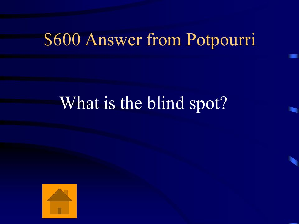 $600 Answer from Potpourri