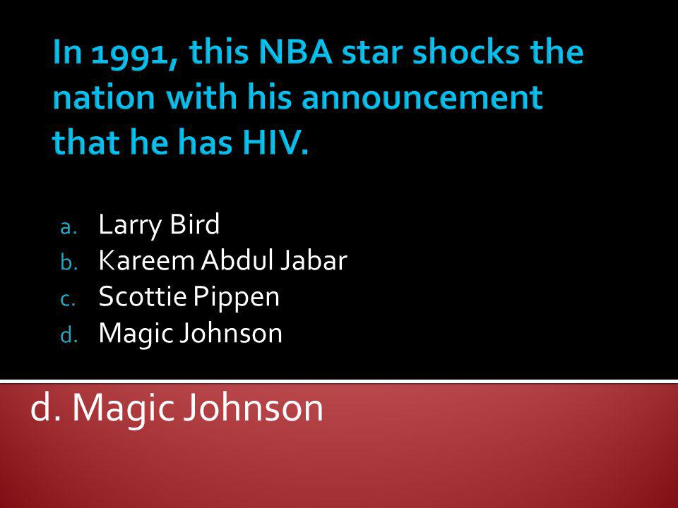 Larry Bird Kareem Abdul Jabar Scottie Pippen Magic Johnson