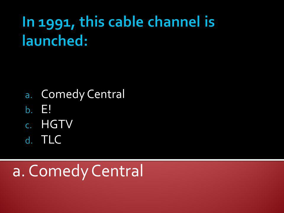 In 1991, this cable channel is launched: