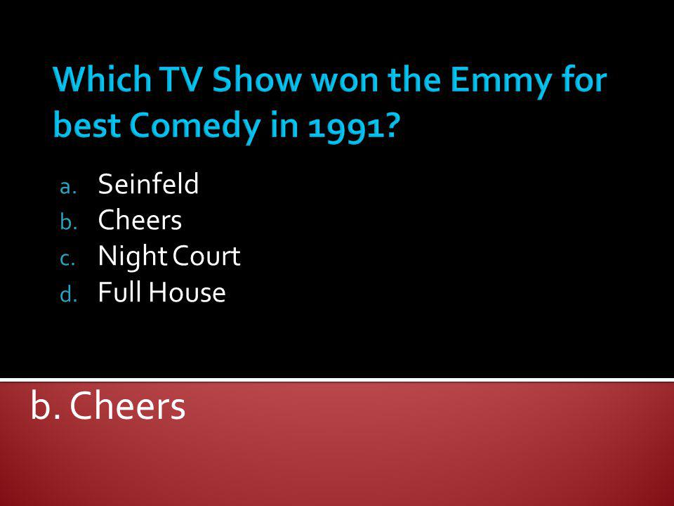 Which TV Show won the Emmy for best Comedy in 1991