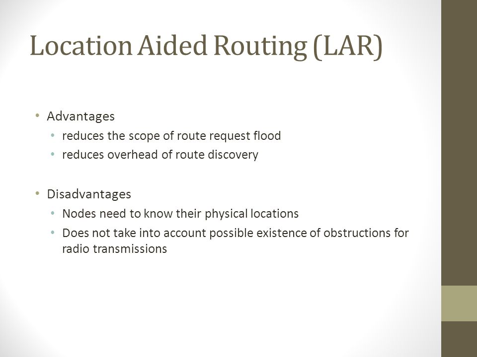 Location Aided Routing (LAR)