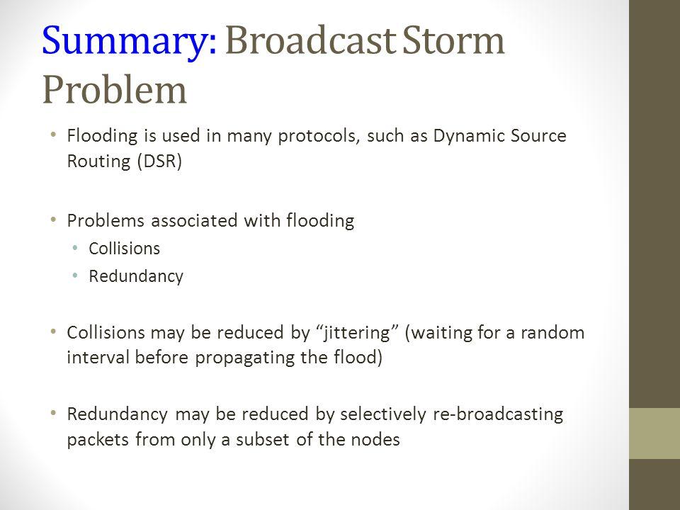Summary: Broadcast Storm Problem