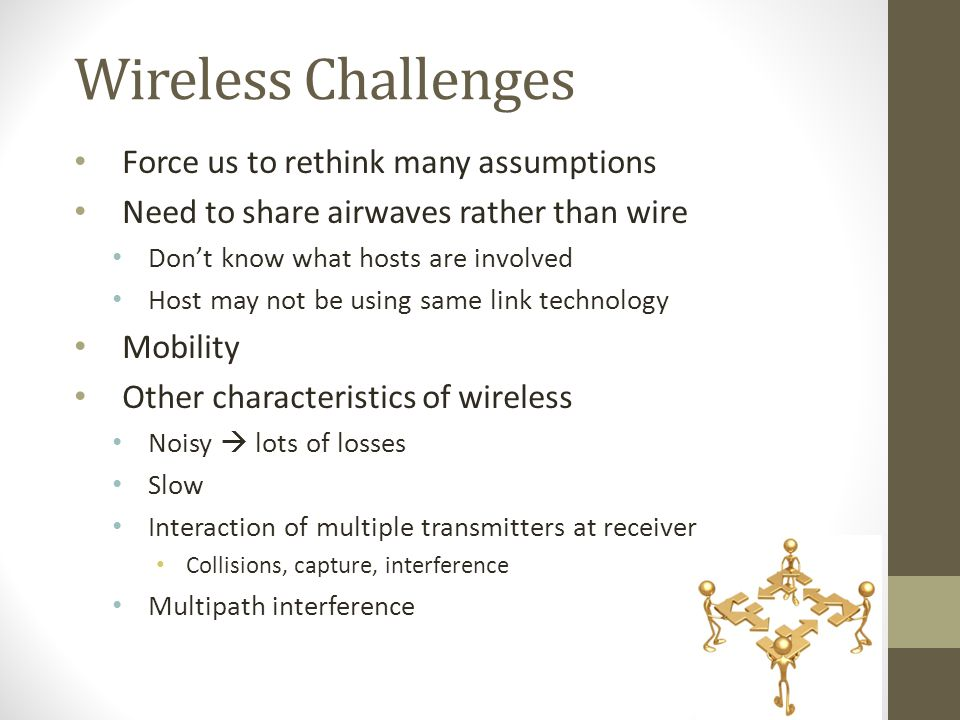 Wireless Challenges Force us to rethink many assumptions