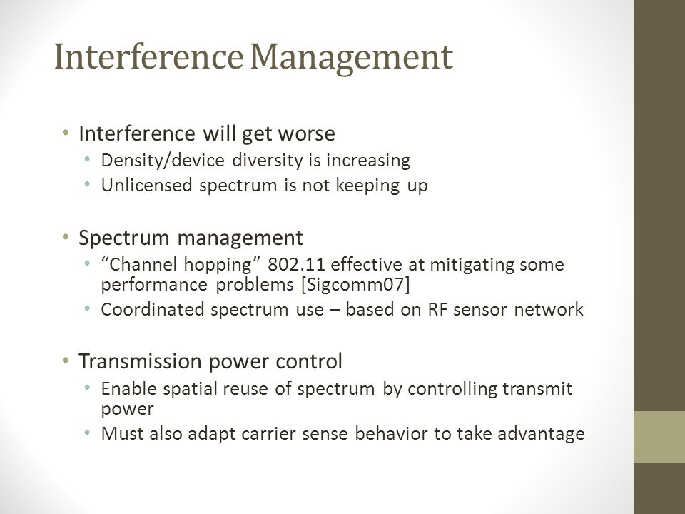 Interference Management