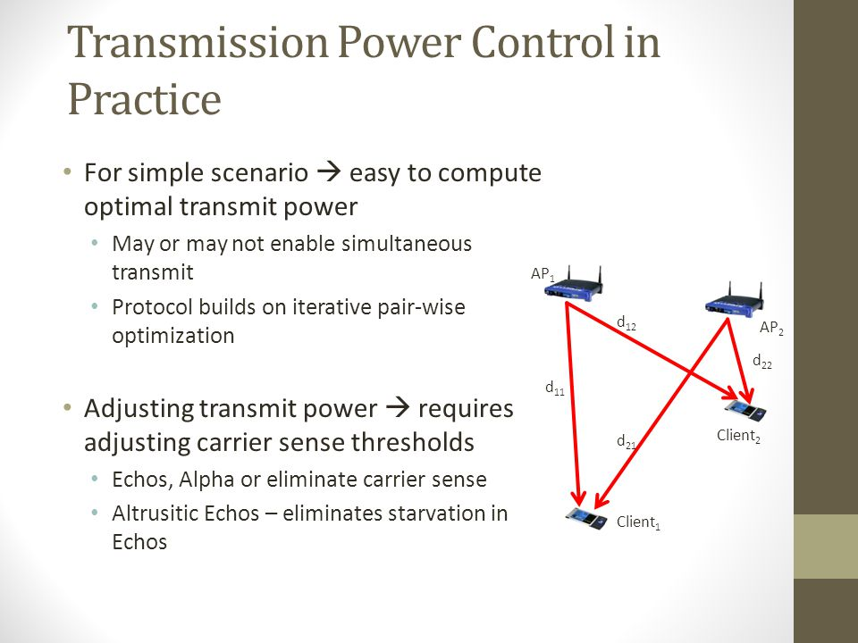 Transmission Power Control in Practice