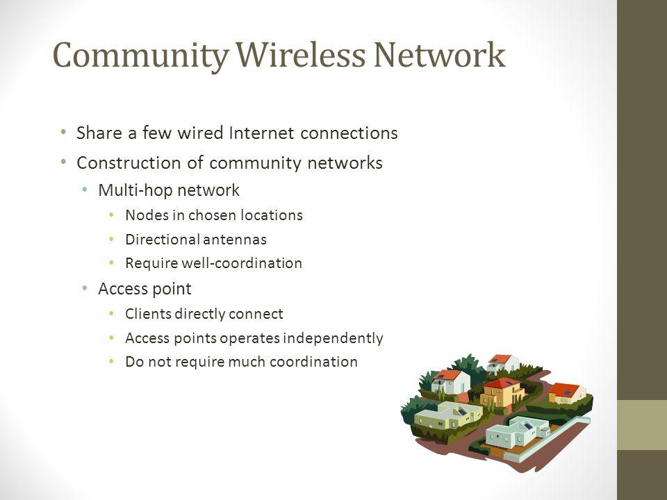 Community Wireless Network