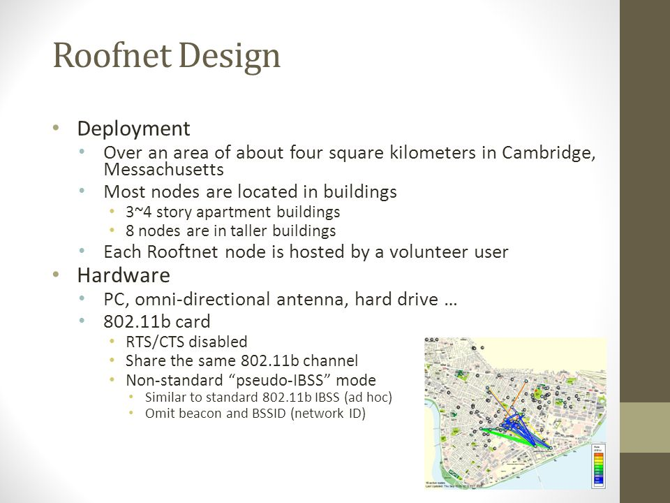 Roofnet Design Deployment Hardware