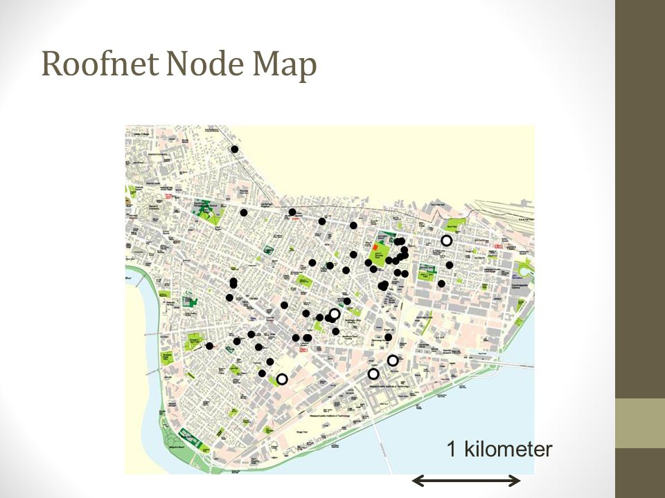 Roofnet Node Map 1 kilometer