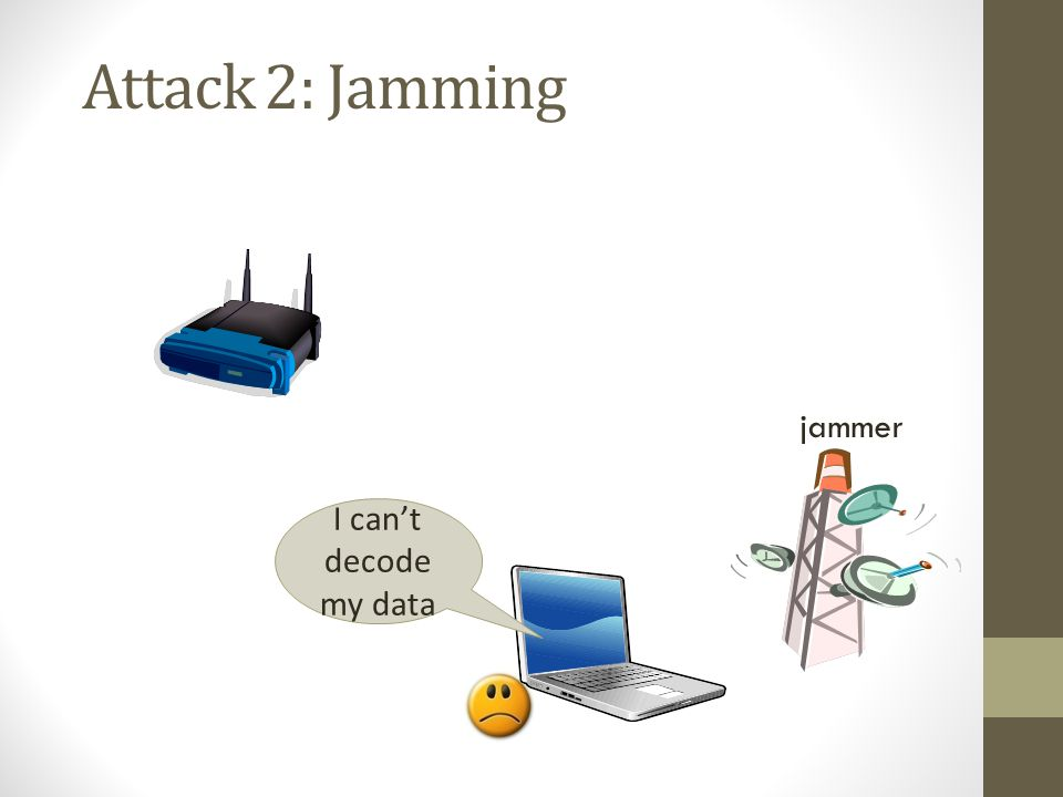 Attack 2: Jamming jammer I can't decode my data