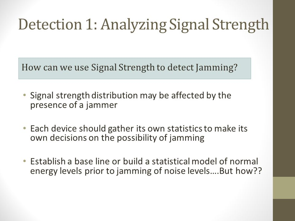 Detection 1: Analyzing Signal Strength