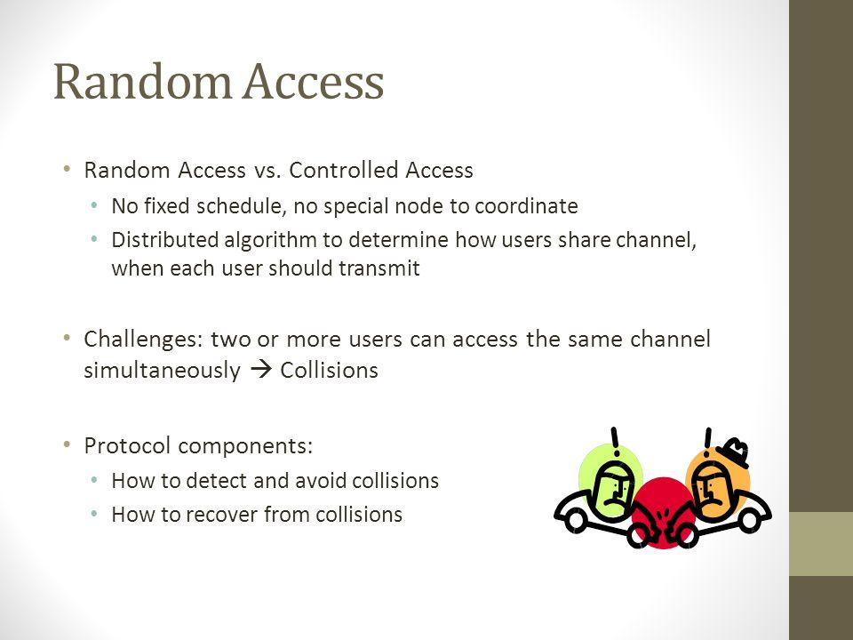 Random Access Random Access vs. Controlled Access