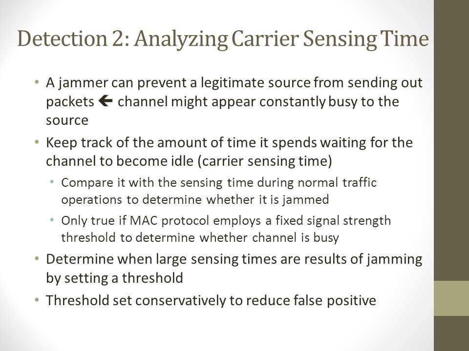 Detection 2: Analyzing Carrier Sensing Time