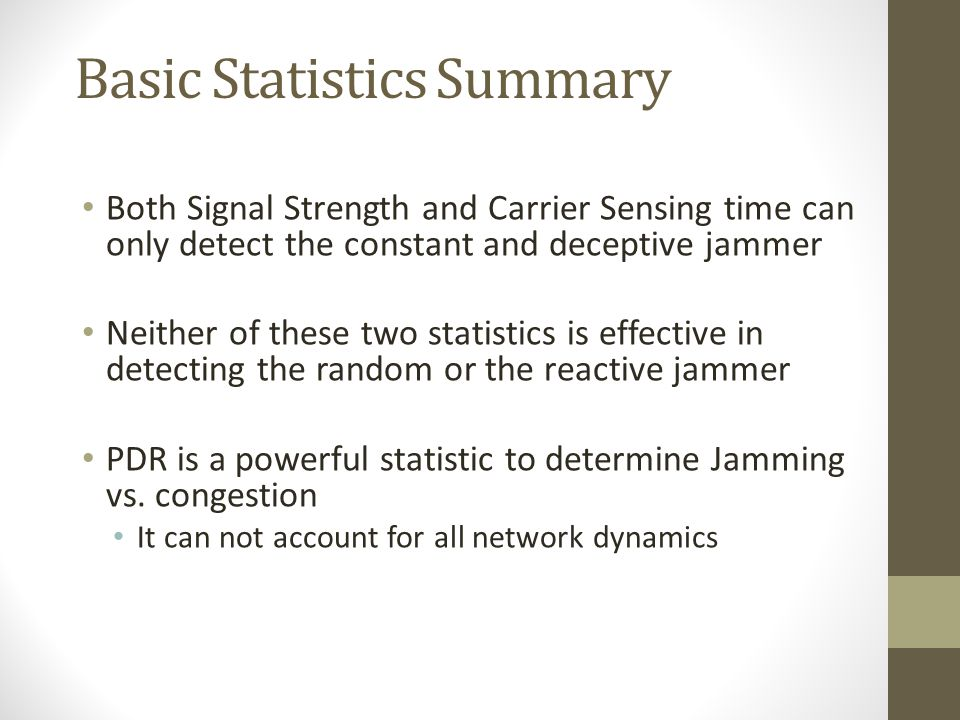 Basic Statistics Summary