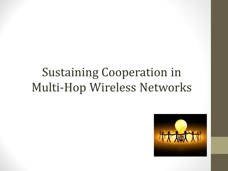 Sustaining Cooperation in Multi-Hop Wireless Networks