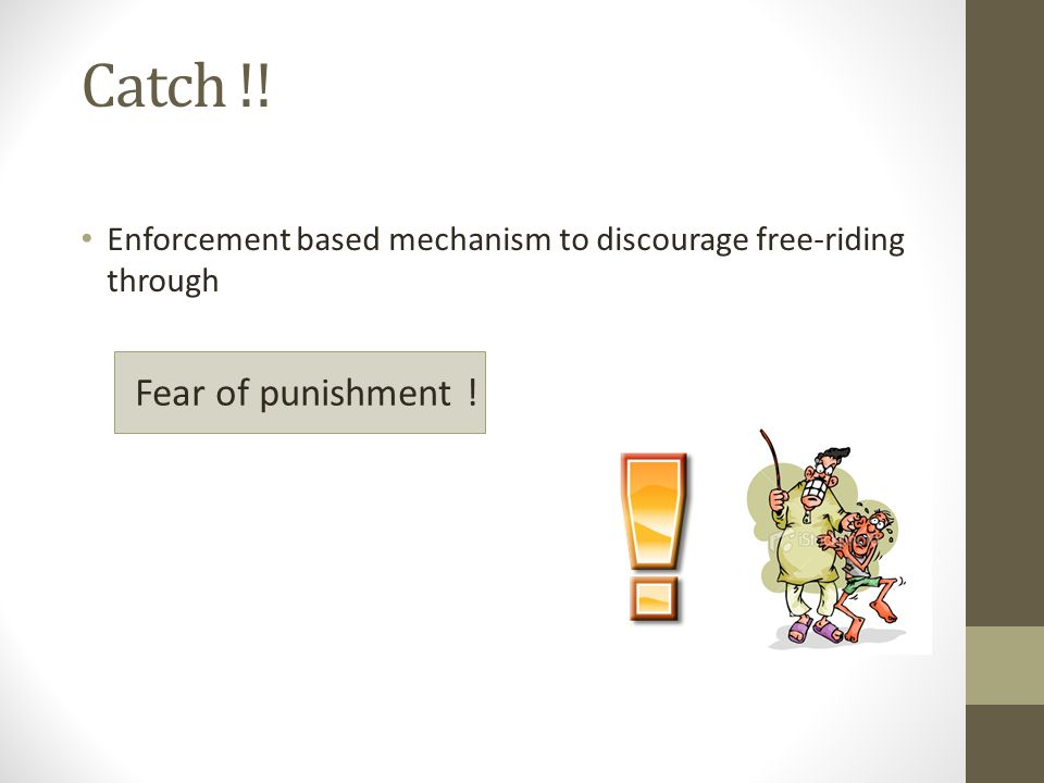 Catch !! Fear of punishment !