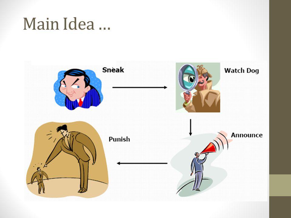 Main Idea …