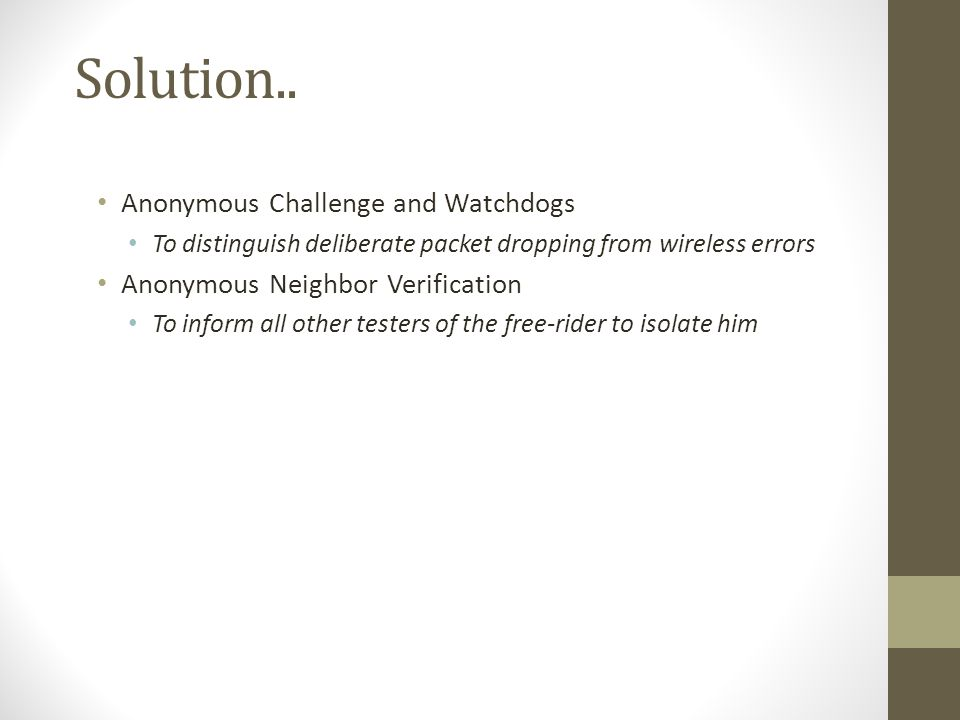Solution.. Anonymous Challenge and Watchdogs