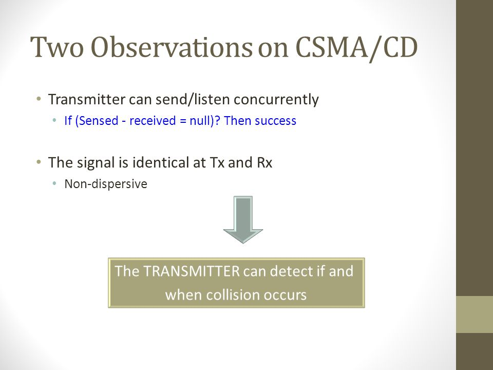 Two Observations on CSMA/CD