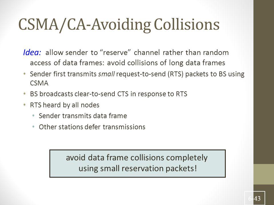 CSMA/CA-Avoiding Collisions