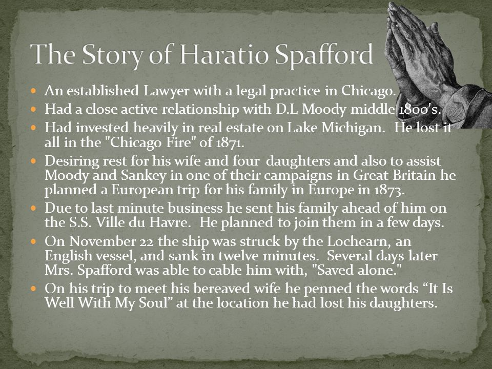 The Story of Haratio Spafford