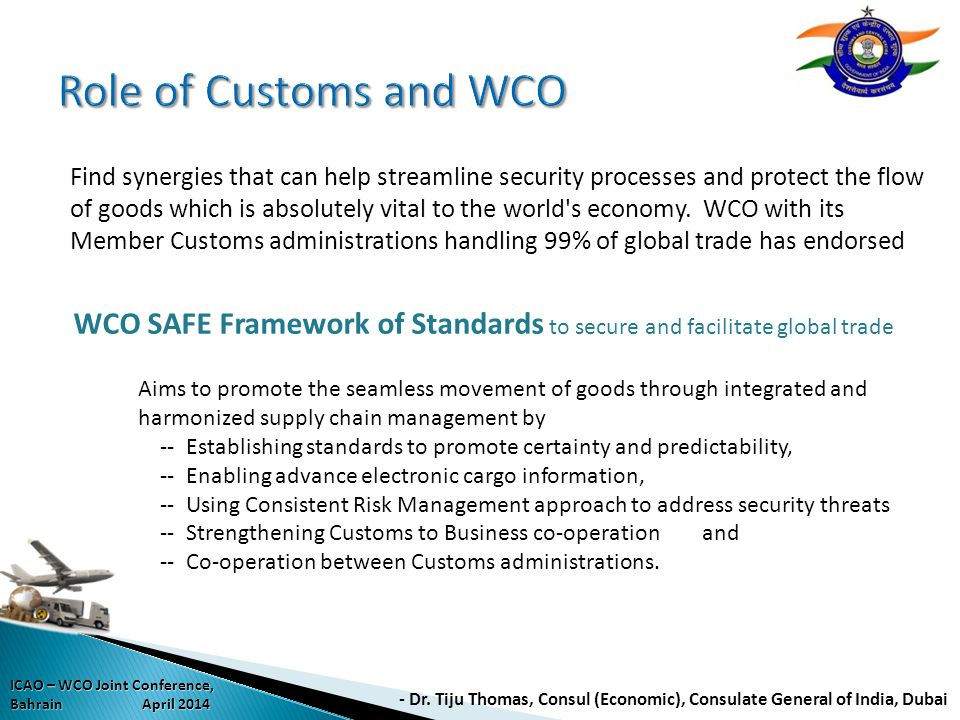 Role of Customs and WCO