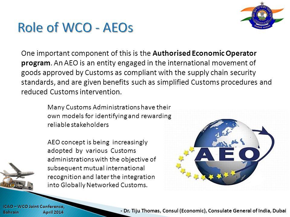 Role of WCO - AEOs