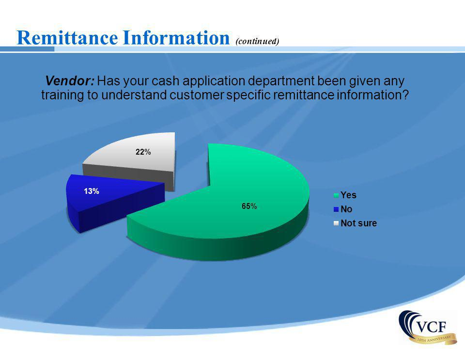 Remittance Information (continued)
