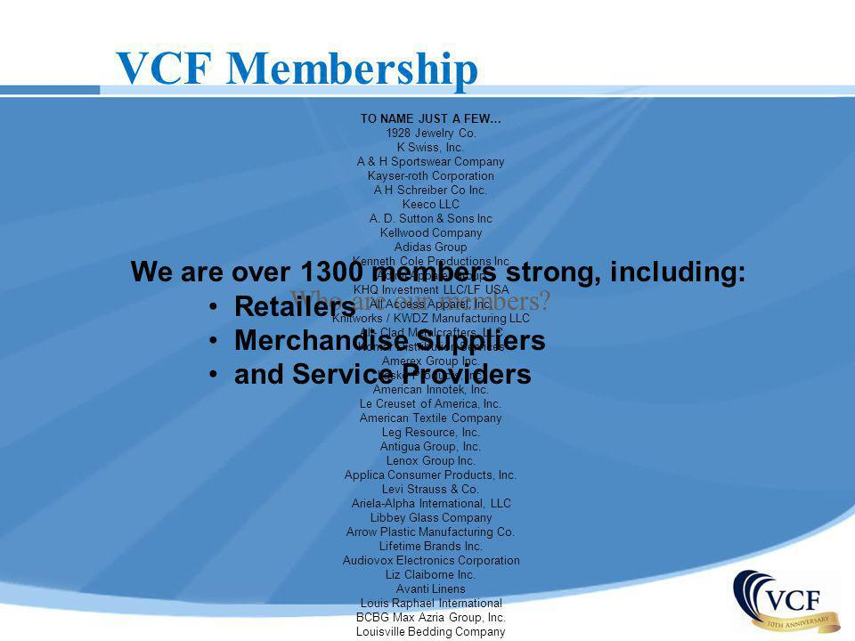 We are over 1300 members strong, including:
