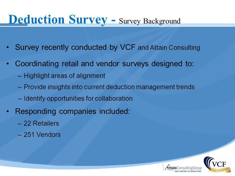 Deduction Survey - Survey Background