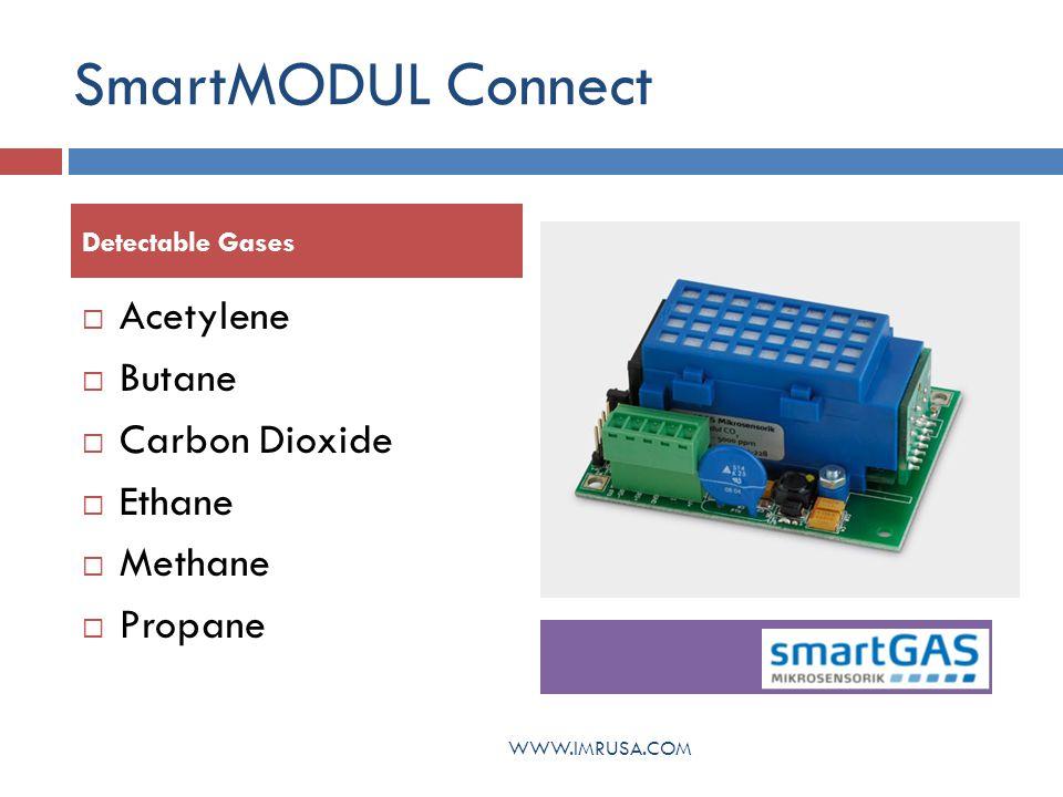 SmartMODUL Connect Acetylene Butane Carbon Dioxide Ethane Methane