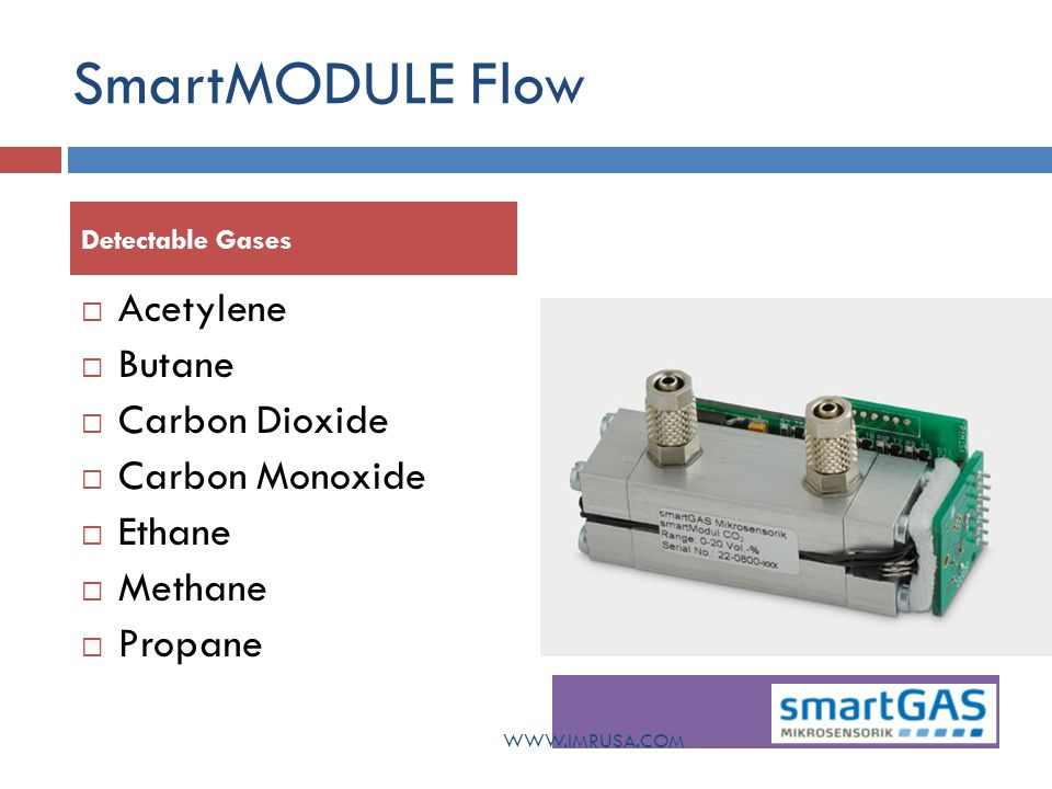 SmartMODULE Flow Acetylene Butane Carbon Dioxide Carbon Monoxide