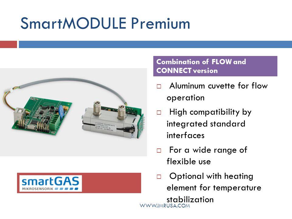 SmartMODULE Premium Aluminum cuvette for flow operation