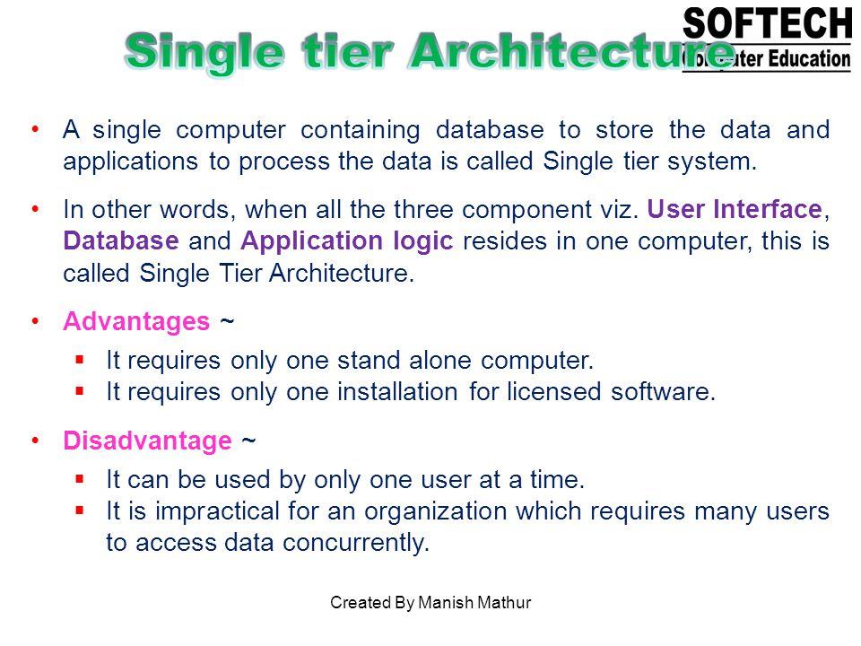 Single tier Architecture