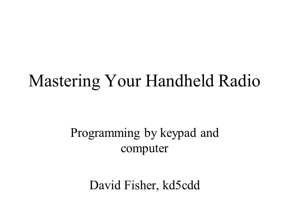 Mastering Your Handheld Radio