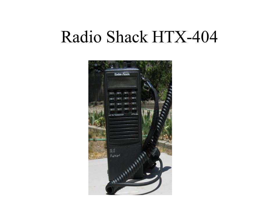 Radio Shack HTX-404