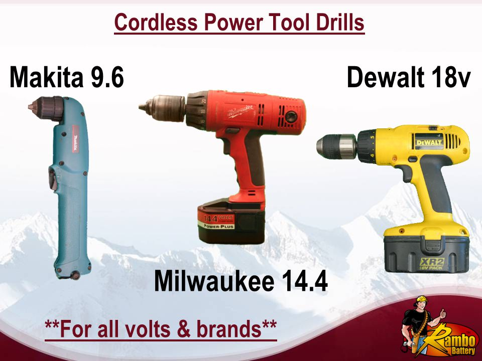 Cordless Power Tool Drills