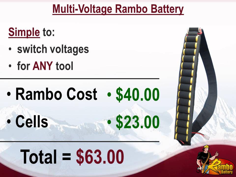 Multi-Voltage Rambo Battery