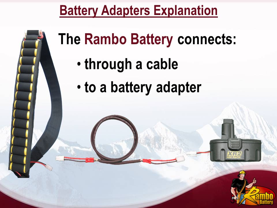 Battery Adapters Explanation