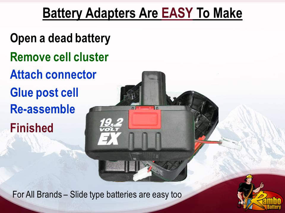 Battery Adapters Are EASY To Make