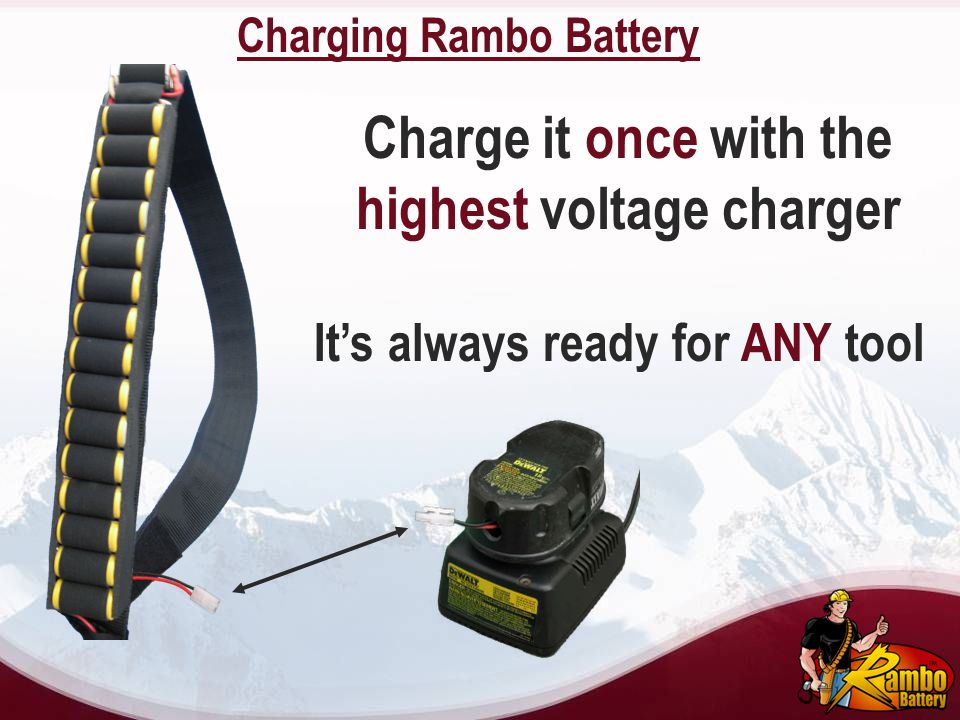 Charging Rambo Battery Charge it once with the highest voltage charger