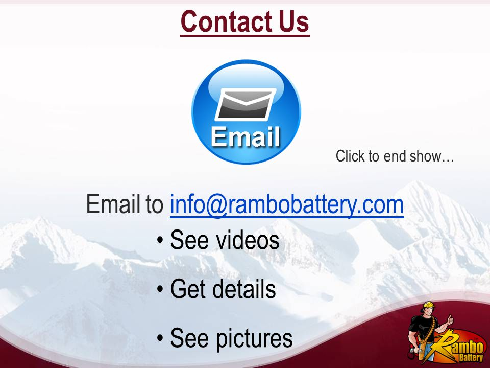 Email to info@rambobattery.com