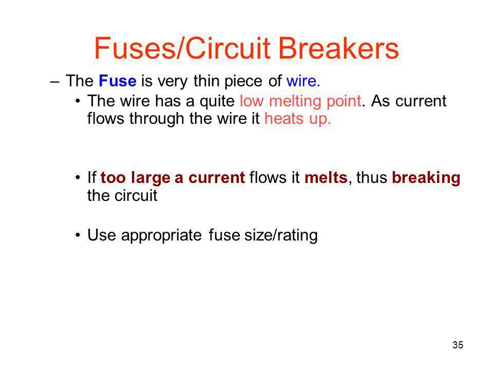 Fuses/Circuit Breakers