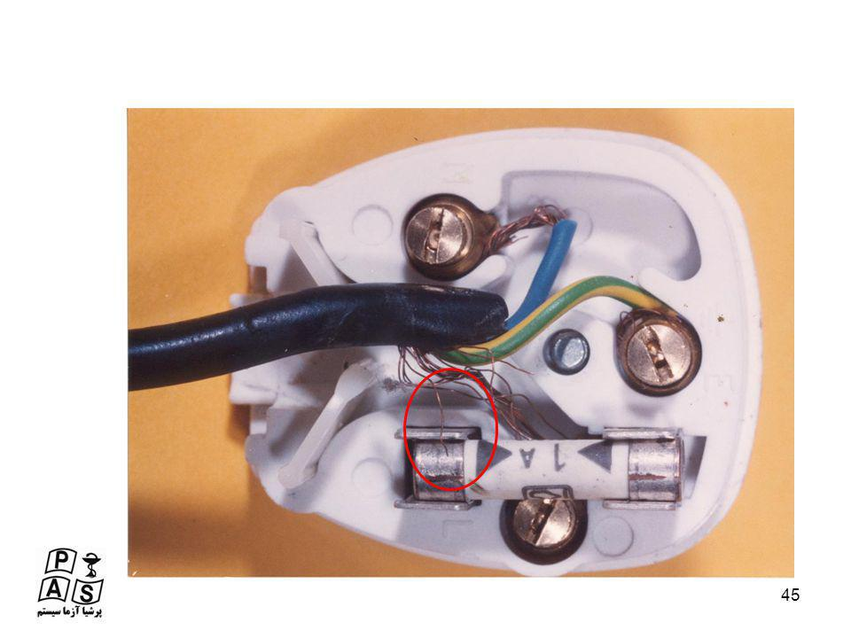 Very bad wiring of mains plug – stray strands (could actually bypass the fuse, or at the least arc inside the plug)