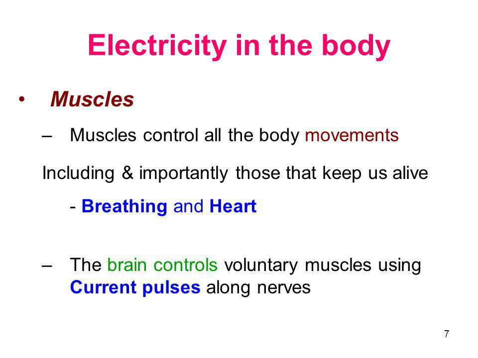 Electricity in the body
